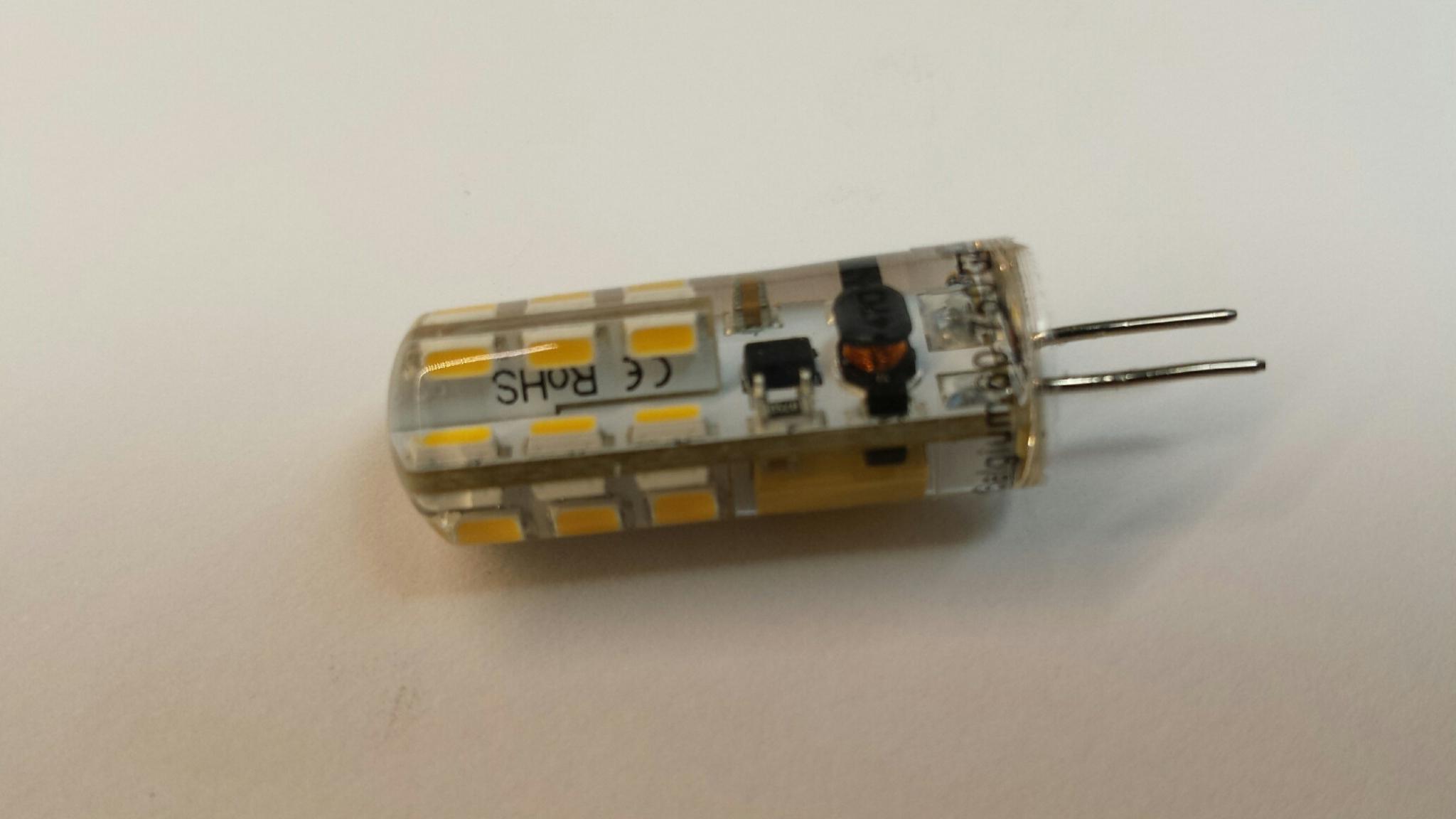 LED spot 12Volt 1,2Watt fitting G4