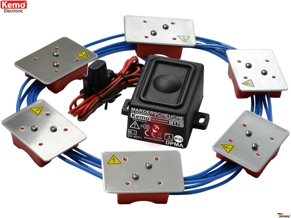 Marterverjager met geluid en hoogspanning waterdicht iP65 M176