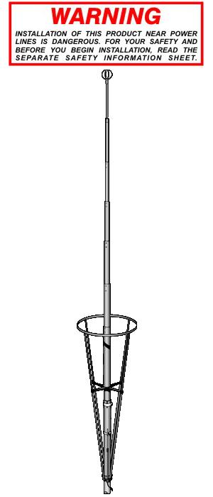 Sirio 27Mhz basis antenne VECTOR 4000
