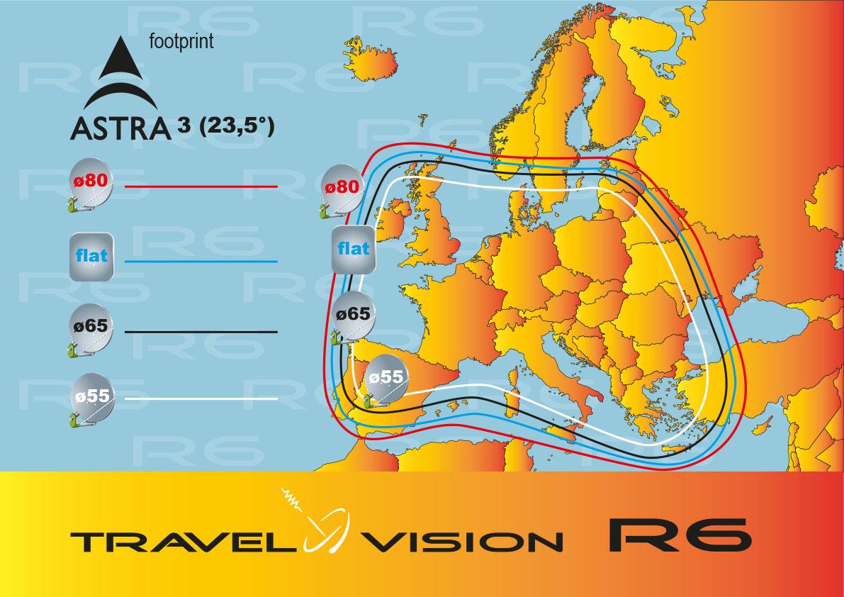 Portabel satellietsysteem Travel Vision R7 80cm !!! NIEUW !!!