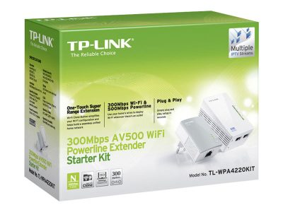 AV500 Powerline adaptor met WiFi Extender