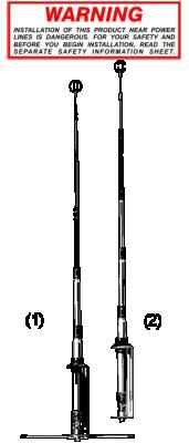 Sirio 27Mhz basis antenne GPS 1/2