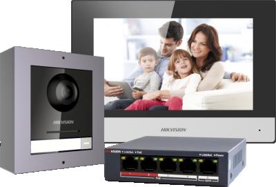 Hikvision videofoon set UTP Poe DS-KIS602