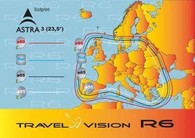 Portabel satellietsysteem Travel Vision R7 65cm met duo LNB  !!! NIEUW !!!