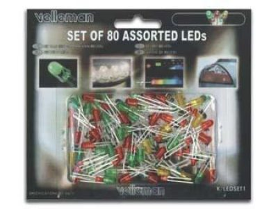 Set van 80 diverse LED's K/LED1