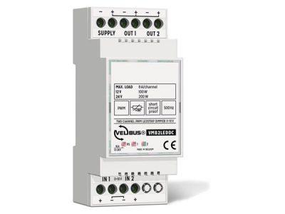 Velbus 2 kanaal PWM dimmer 0-10Volt VMB2LEDDC