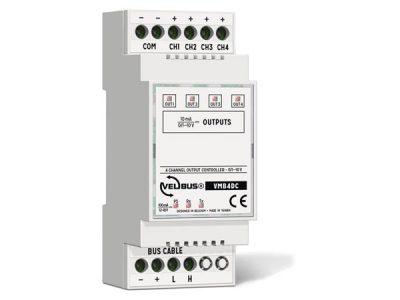 Velbus 4kanaal 0/1-10Volt controller VMB4DC