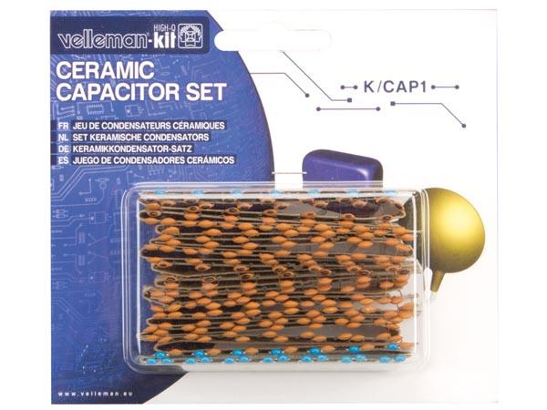 Set van 224 ceramische condensators K/CAP-1