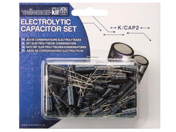 Set van 120 elektrolytische condensators K/CAP-2
