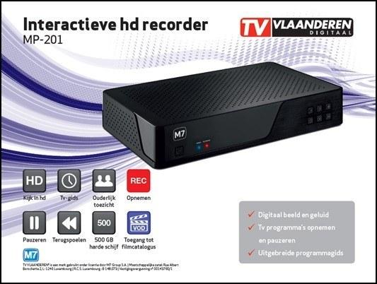 TV Vlaanderen interactieve HD recorder set MP201