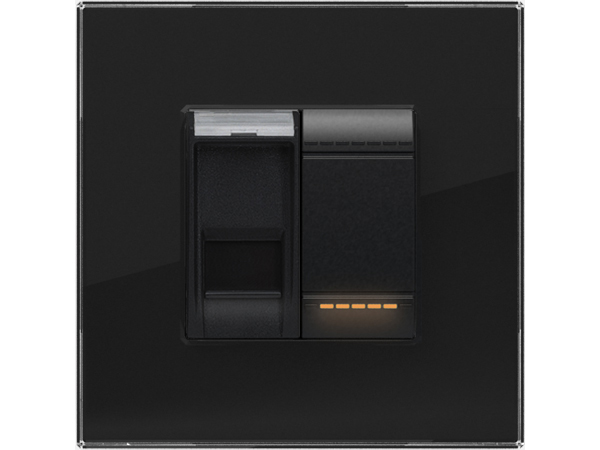 Velbus glazen kader voor Bticino® Livinglight (ZWART) VMBGP1SB